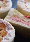 桜のレアチーズパンのフィリング