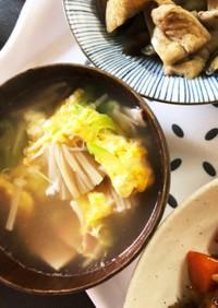 ベーコンと卵の中華スープ♡