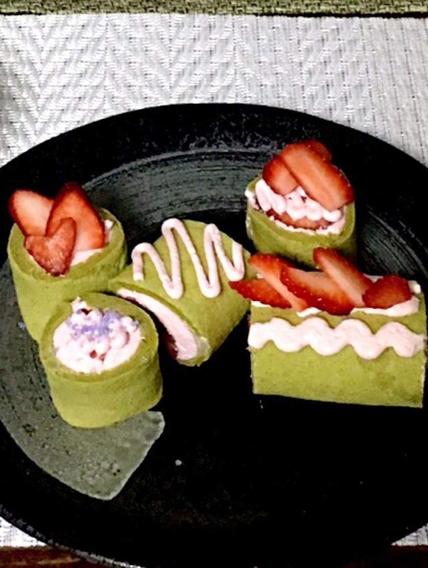 春色❁抹茶ベジロールケーキ(プチロール)