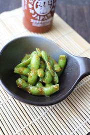 スリラチャのガーリック枝豆ローストの写真