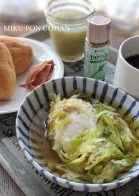 キャベツとたまごの醤油スープ