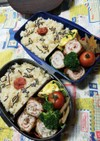 高校男子弁当☆出しご飯と豚肉巻き~