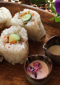 腎臓病食にも 生ハムのサラダ風巻き寿司