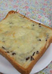 塩昆布チーズトースト