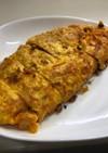 キムチ納豆ととろけるチーズマヨの卵焼き