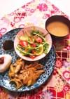 水菜とトマトとレモンの和風サラダ