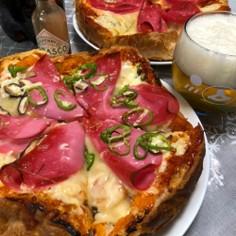 ラ・ムーのフランスパンで作る簡単ピザパン