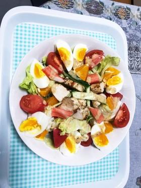 サラダチキンと野菜のサラダ