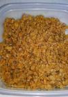 大豆ミートと豚挽き肉でそぼろ。