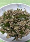 茎わかめと挽き肉の炒め物
