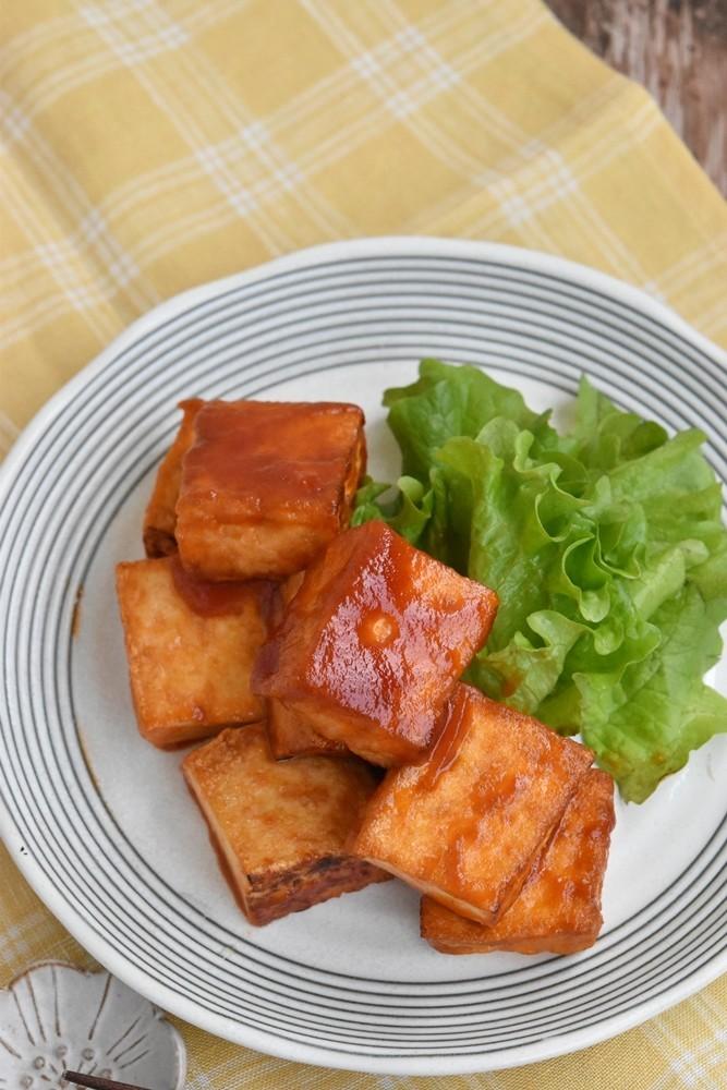 厚揚げ豆腐のケチャップ焼き