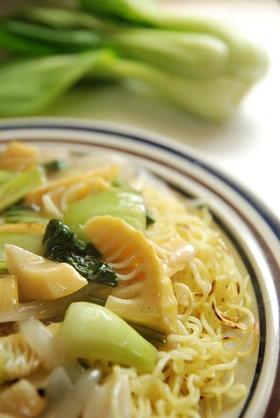 激ウマ♪青梗菜と筍の塩焼きそば