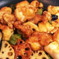 デパ地下デリ♡鶏肉とお野菜の黒酢はちみつ