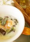 チンゲン菜のミルクスープ