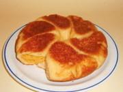 フライパンでパン ココナッツクリームパンの写真