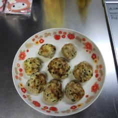 ニラと豆腐のハンバーグ