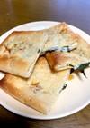 油揚げと大葉とチーズのハサミ焼き