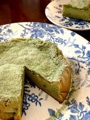 お豆腐の抹茶生チョコケーキの写真