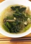 小松菜の春雨中華風スープ