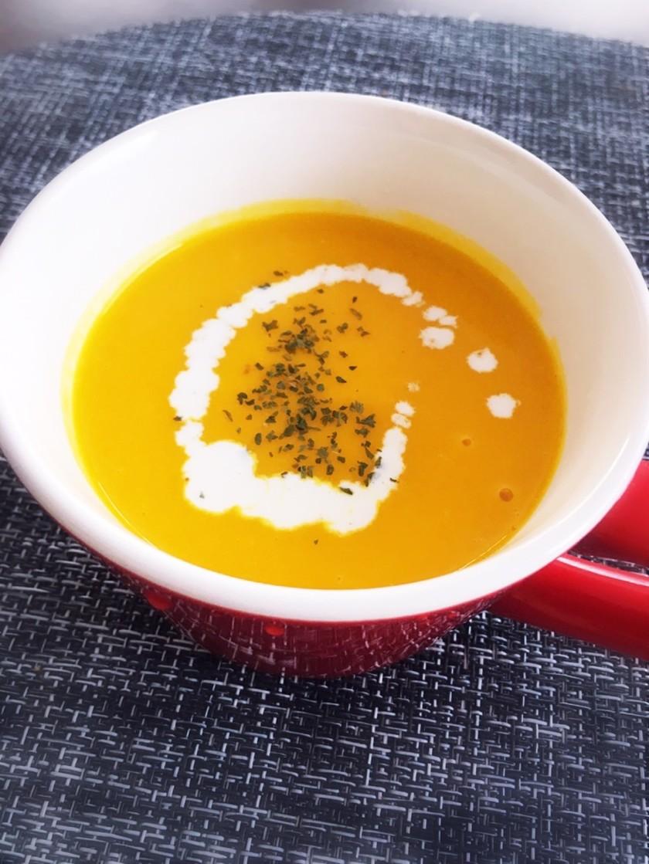 甘ーい♡新玉ねぎとかぼちゃのスープ