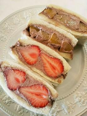 いちご 黄桃 フルーツチョコサンドイッチ