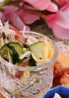胡瓜と小鰯の酢の物
