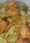 鶏肉とキャベツの旨味噌炒め