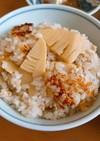 筍と鶏そぼろの炊き込みご飯