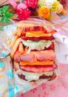 中3女子弁当♡ミートローフサンドイッチ