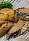 鰹とひろうすの煮物