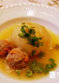 新玉ねぎと肉団子のスープ