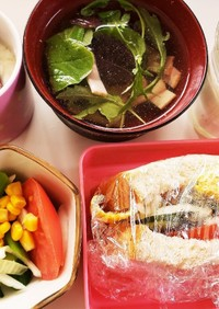 管理栄養士の卵 朝ごはんサンドイッチ弁当