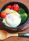 アボカド温泉卵のせグラタン