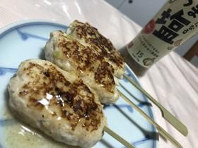 塩ダレの鶏肉団子串