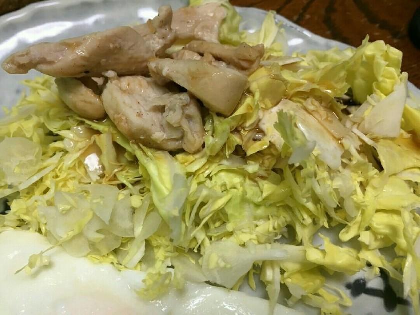 ドレッシングで美味しい蒸し鶏