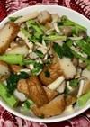 かき菜とさつま揚げの香味ペースト炒め