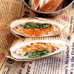 簡単 デリ風♡野菜モリモリ サンドイッチ