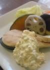 鮭ぶしぽん酢を使ったソース 温野菜添え