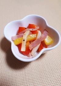 常備菜 | パプリカとベーコンの洋風炒め