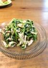 簡単に副菜☆豆苗とサラダチキンのサラダ