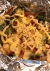 ブロッコリーとアスパラのマヨチーズ焼き