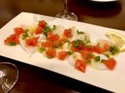 タコ、青唐辛子とトマトのセビーチェの写真
