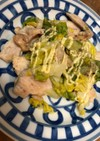 春キャベツと鶏むね肉のマヨ炒め☆