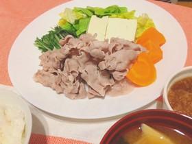 豚しゃぶと春の温野菜☆おろしソース