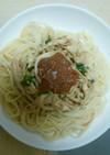蒸し鶏の梅じそ風味スパゲッティ