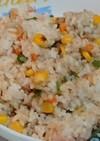 ツナと彩り野菜のさっぱりチャーハン