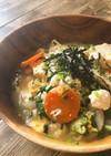 お豆腐de鶏だしスープの親子丼