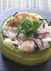ひじき蓮根と玄米ご飯のサラダ風
