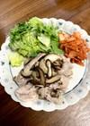 豚肉、キムチ、カイワレ