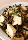簡単♪フライパンで蕨と厚揚げの炒め煮